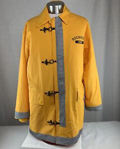 Vtg Rocawear Firefighter Style Raincoat Full Zip Men's Jacket Size Large Jay-Z