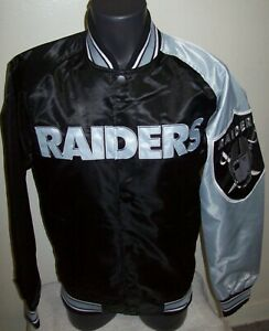 OAKLAND RAIDERS NFL STARTER Snap Down Jacket Sping/Summer Ed BLACK/GREY S M XL