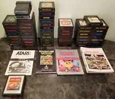 (55) Atari 2600 Game & (35) Manual Lot Unique No DUPES