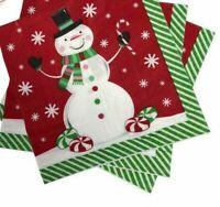 40 X Renova White Christmas Stars /& Balls Design Napkins 2 Pack
