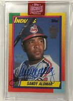 2019 Topps Archives Signature Sandy Alomar Jr 1990 Topps Traded 1st Indians /14