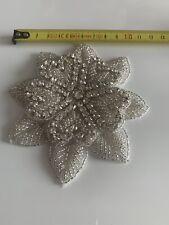 Wedding Dress Applique Rhinestone Crystal Flower Trimming DIY Motif Bridal Prom