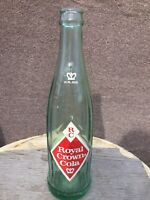 1960s ACL RC Royal Crown Cola Beverages Soda Pop Bottle Ribbed 12 Oz