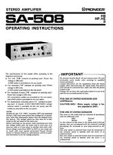 Pioneer SA-508 Amplifier Owners Manual