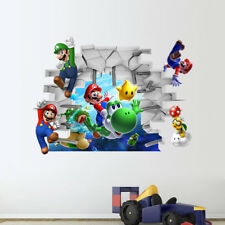 Wall Stickers Super Mario 3D Decal Removable Art Mural Wallpaper Kids Room