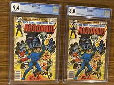 Lot Of 2 MICRONAUTS #1 CGC Books 9.4 & 8.0 WHITE PAGES !  1st app of Baron Karza