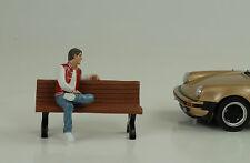 Man Assis Adam Silhouette Figurines 1:24 American Diorama N° Banc Voiture