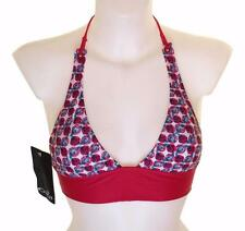 """Bnwt Women's Oakley Jaw Breaker Padded Bikini Top Swim Wear Xlarge 42""""-43"""" Red"""
