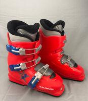 Salomon Performa T3 Ski Boots Downhill Alpine Red Size 23 Men's 4.5 Very Clean!