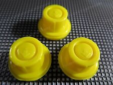 3PK NEW BLITZ Replacement YELLOW SPOUT CAPS Fuel Gas fits # 900302 900092 900094