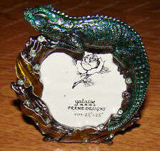 "Pewter Lizard Picture Frame (Wildlife Collection, 4187) 2 1/2"" x 2 1/2"" picture"