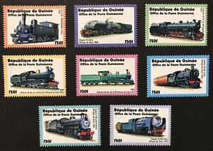 GUINEA TRAINS OF AFRICA STAMPS SET 2002 MNH STEAM LOCOMOTIVE RAILROAD RAILWAY