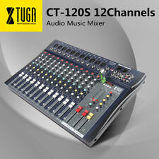 XTUGA CT120S-USB 12 Channels Professional Audio Mixer Mixing Console XLR Input
