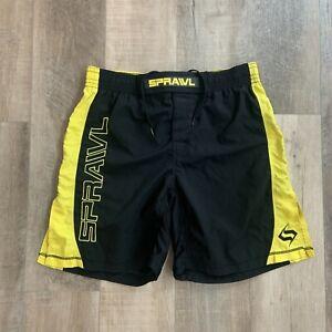 SPRAWL Fight Shorts Martial Arts MMA Stretch Black Size 34