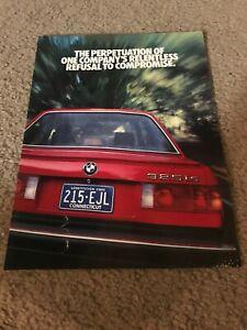 Vintage 1987 BWM 325i CONVERTIBLE 3-SERIES SPORTS SEDAN Brochure 8-PG Print Ad