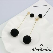 Pendientes earrings woman largos bolas de terciopelo Tendencia Regalo gift