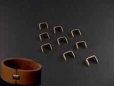 200Pc  Brass Staple Leather Belt Loops Fastener Holder for DIY Leathercraft