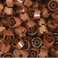 Lego X150 New Reddish Brown City Logs / Logging 2x2 Round Brick With Axle Hole