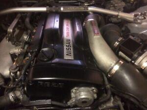 NISSAN SKYLINE R33 GTR V-SPEC RB26 DETT ENGINE+GEARBOX SERIES 3 (25K) READ ADD