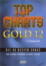 Top Charts Gold 12 Noten Songbook für Klavier Keyboard Gitarre leicht mit 2 CDs