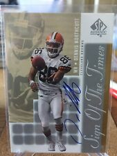 2000 Upper Deck SP Authentic Dennis Northcutt Rookie Autograph RC On Card Browns