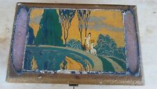 Rare Vintage Art Deco Donald Duncan Box Nude Girl + Deer