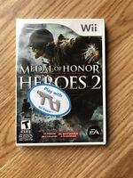 Medal Of Honor Heroes 2 Sealed Nintendo Wii Cib XP3