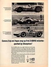 1966 NICKEY CHEVROLET SPONSORED RACE CAR - CHARLIE HAYES - JOHN CANNON ~ RARE AD