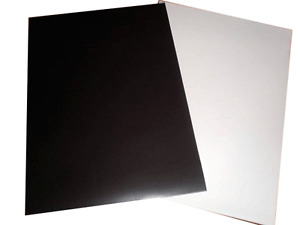 A3 Sheet VEHICLE GRADE .85 mm thick magnetic Rubber sheeting White Gloss Coating