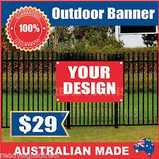 Custom Outdoor Vinyl Banner Sign - 900mm x 700mm - Australian Made