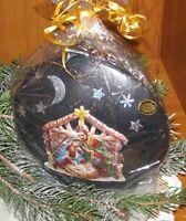 Kerze Diskus stehend mit weihnachtlichen Motiven - Weihnachten - Weihnachtskerze