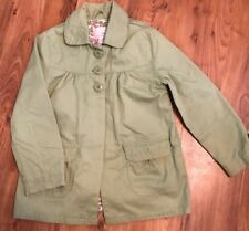 Girls Jacket Coat Lime Green Spring Summer Coat From Next Vgc Age 7-8 Years