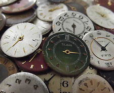15Pc ASSORTED VINTAGE WATCH FACES Steampunk Jewellery Watch Parts Art Crafts Set