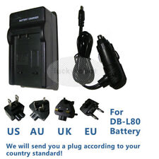 Wall&Car Battery Charger For SANYO VAR-L80 DB-L80 Xacti VPC-CG20,Xacti VPC-CG21