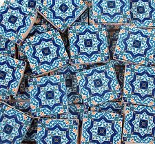 Ceramic Mosaic Tiles - Blue White Yellow Moroccan Tile Pattern Mosaic Tiles