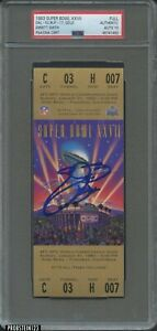 Emmitt Smith Signed 1993 Super Bowl XXVII FULL TICKET Gold AUTO PSA/DNA 10