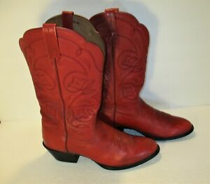 """ARIAT """"Heritage"""" Red Deertan  Leather Cowboy Boots Style #15761 -Sz-9,5R"""