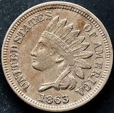 USA 1863 Indian Head Cent Philadelphia 1 One Cent Kupfer-Nickel Selten 4469