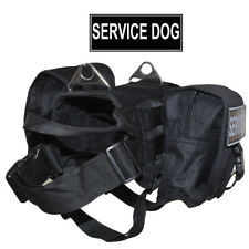 Dog Harness SERVICE DOG Backpack Harness with Removable Saddle Bags Patches