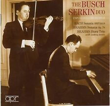 "CD APPIAN APR 5528 Bach JS; Brahms ""Unpublished Recordings"" The Busch Serkin Duo"