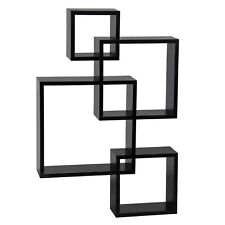 New Design Intersecting Squares Floating Shelf Wall Mounted Home Decor Furniture