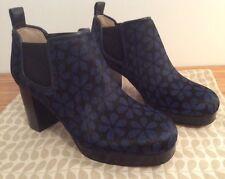 Orla Kiely Clarks, Blue Floral Audrey Shoe Boots, UK Size 4.5, EUR 37.5, Vintage