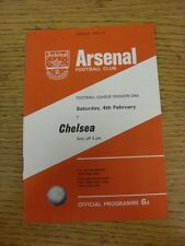 04/02/1966 Arsenal v Chelsea  (Team Changes). Unless stated previously in the de