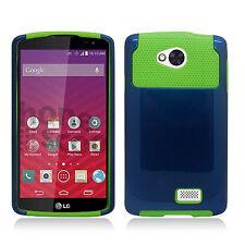 For MetroPCS LG Optimus F60 NEST HYBRID HARD Case Rubber Phone Cover