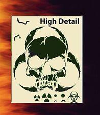 Skull 1 Airbrush Stencil Spray Vision Template air brush
