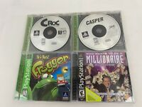 Original PlayStation 1 Game Lot Of 4 Frogger, Casper,Croc,Millionaire - Tested