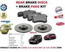 für Renault Scenic III 2009- > 260mm Bremsscheiben SET HINTEN+Bremsbelagsatz
