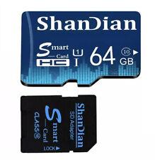 SHANDIAN Micro sd card TF card class10 mini card Micro sd 64GB For Phone Tablet