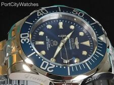 Invicta Mens Grand Diver Automatic Blue Dial High Polish S Steel Bracelet Watch