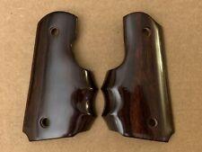 Rosewood Finger Groove Grips for Colt Officer/Defender & other compacts